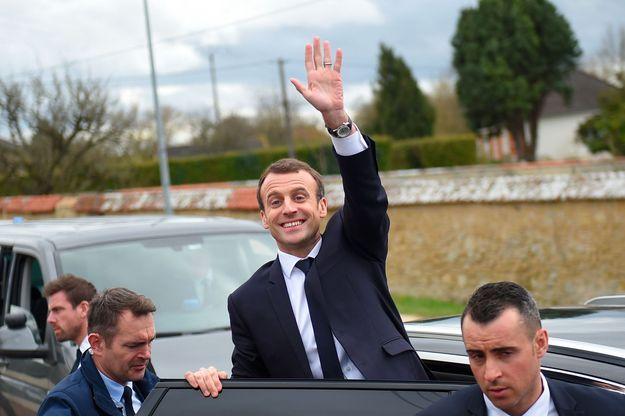 Emmanuel Macron à Loches, en Indre-et-Loire, le 15 mars dernier.