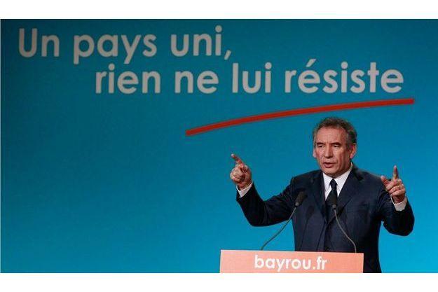 François Bayrou en meeting pour la campagne présidentiele de 2012, le 19 janvier dernier à Dunkerque.