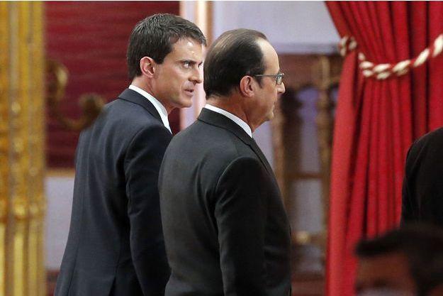 Manuel Valls et François Hollande le 5 février dernier.