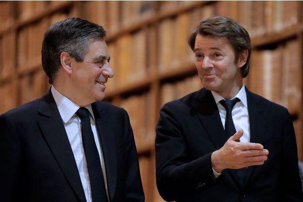 François Fillon et François Baroin à Troyes, le 7 février.