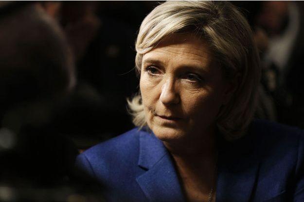 Marine Le Pen à Igoville, dans l'Eure, le 6 janvier.