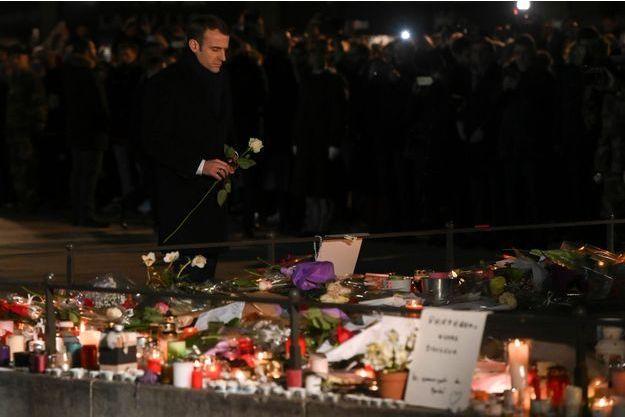 Emmanuel Macron à Strasbourg le 14 décembre 2018.