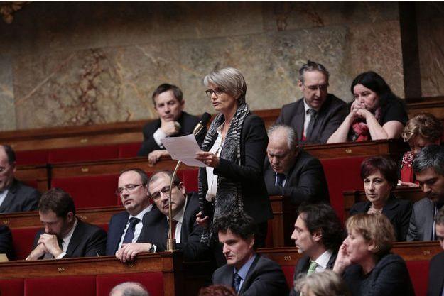 Véronique Massonneau, mardi 4 février. Elle a adressé une question au Premier ministre après le report du projet de loi sur la famille.