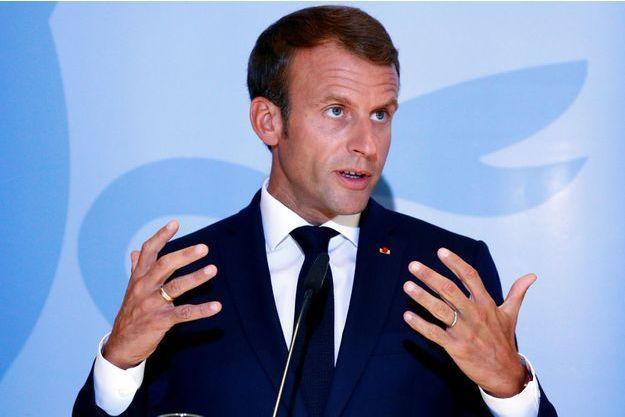 Emmanuel Macron hier au Luxembourg.