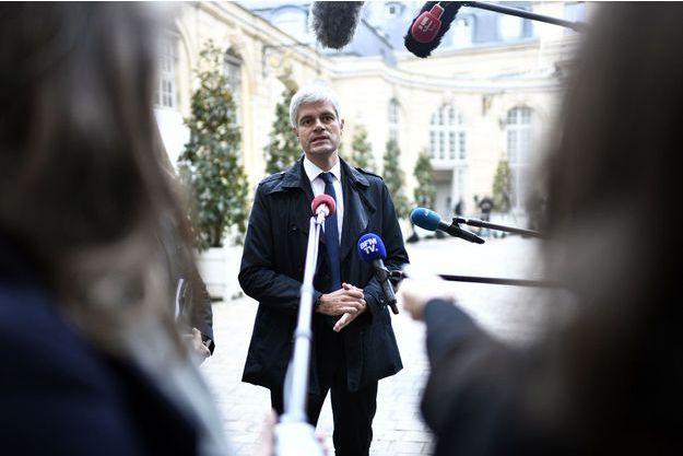 Laurent Wauquiez à Matignon, lundi.