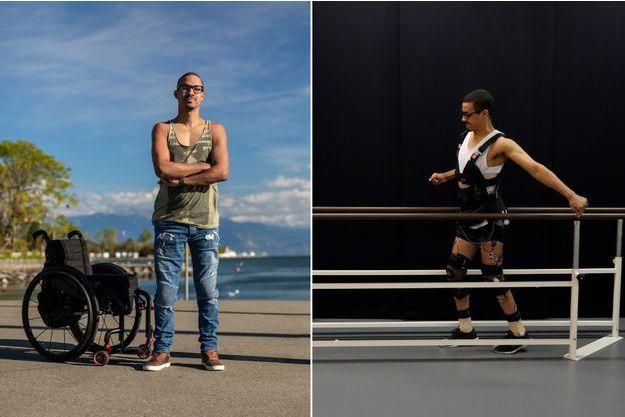 L'un des blessés de la moelle : David, 28 ans, paralysé à la suite d'un accident de sport en 2010.