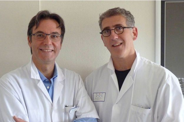Les docteurs Federico Sallusto et Nicolas Doumerc