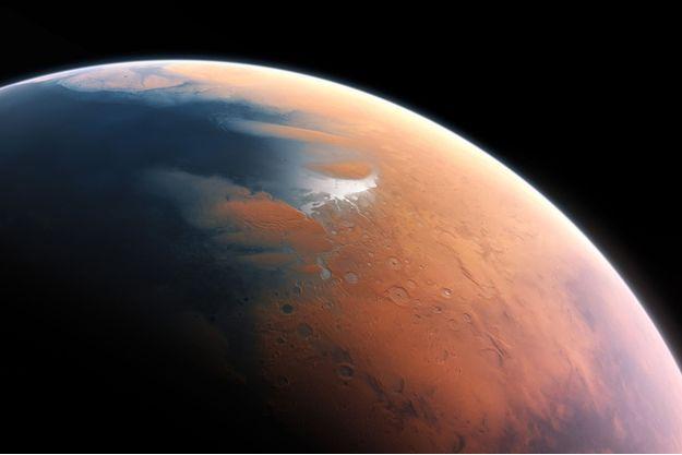 L'hémisphère nord de Mars en partie recouvert d'un immense océan il y a 3 milliards d'années.