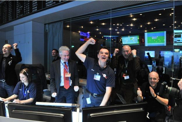 Signal de Rosetta reçu à l'Agence spatiale européenne.