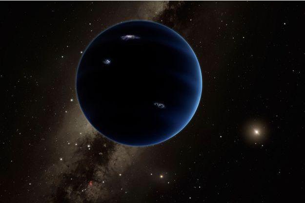 Illustration de la neuvième planète du système solaire