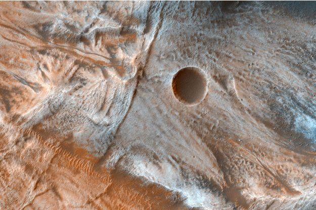 Une vue de la surface de Mars.