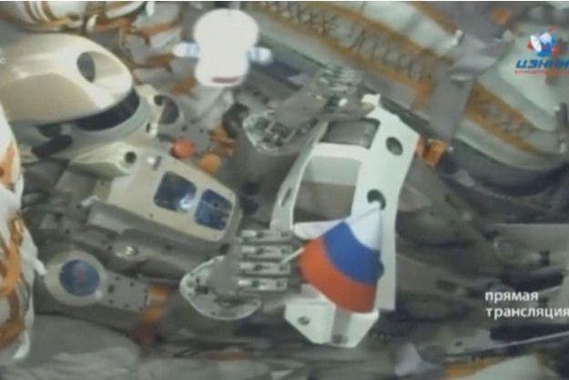 Le robot Fedor, transporté à bord de Soyouz.