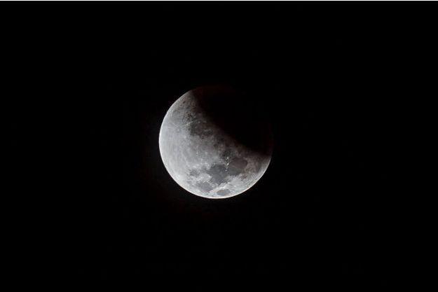 Une éclipse partielle lunaire. (photo d'illustration)