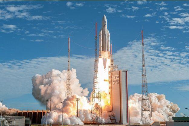 Le 25 juillet 2018 : décollage d'Ariane 5 ES à Kourou. Le 248e tir du lanceur européen aura lieu ce mois-ci.