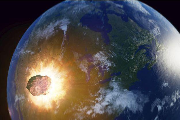 Illustration d'un astéroïde.