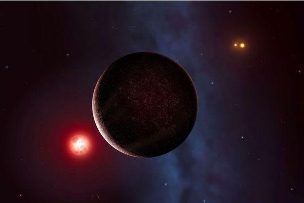 Illustration d'un artiste de l'exoplanète Proxima b