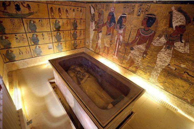 La chambre funéraire de Toutankhamon dans la Vallée des rois à Louxor.