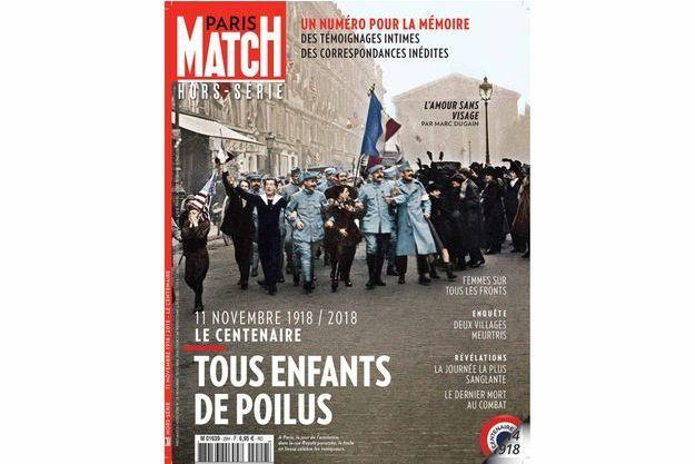 La couverture du hors-série de Paris Match consacré au centenaire de l'armistice.