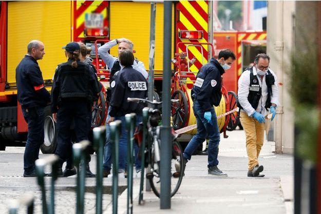 Les secours à Lyon vendredi.
