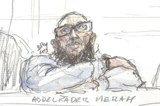 Abdelkader Merah lors de son procès en appel.