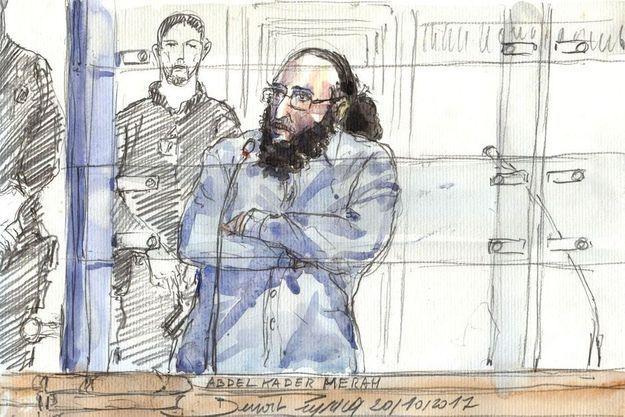 Abdelkader Merah devant la cour d'assises de Paris.