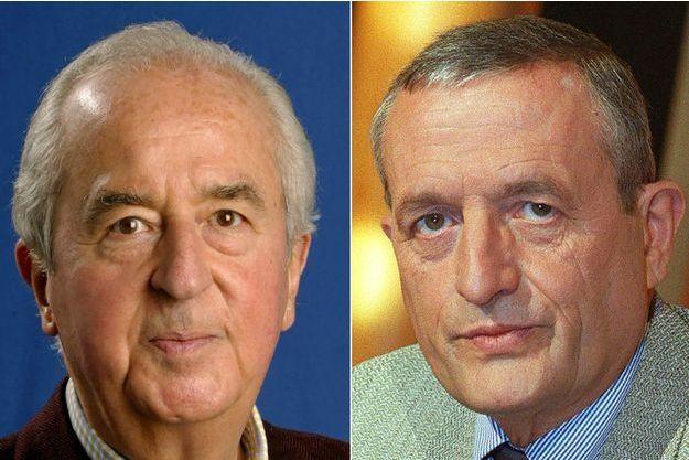 L'ancien Premier ministre Edouard Balladur et l'ex-ministre de la Défense François Léotard.