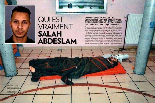 Salah Abdeslam (en médaillon), blessé au genou