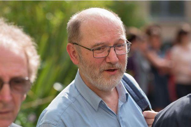 Denis Baupin lors de la passation de pouvoir entre Ségolène Royal et Nicolas Hulot au ministère de la Transition écologique, le 17 mai 2017.
