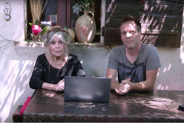 Brigitte Bardot et Rémi Gaillard dans la vidéo sur l'abattoir d'Alès.
