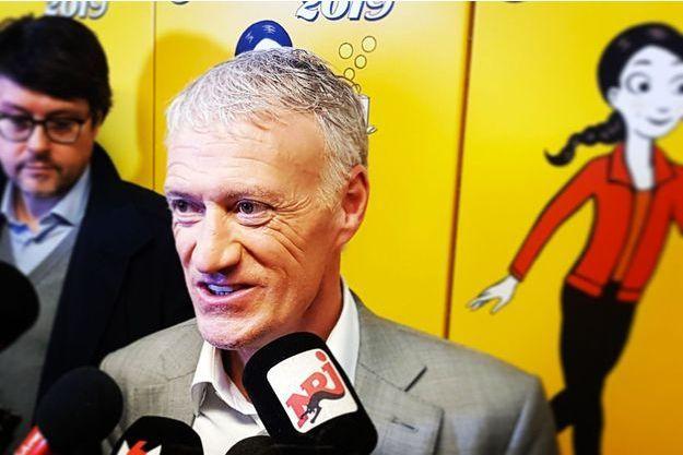 Didier Deschamps mercredi à l'hôpital Necker pour le lancement de l'opération Pièces jaunes.