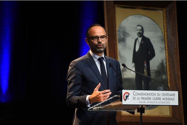 Edouard Philippe a présidé vendredi en Lozère une cérémonie d'hommage à Augustin Trébuchon.