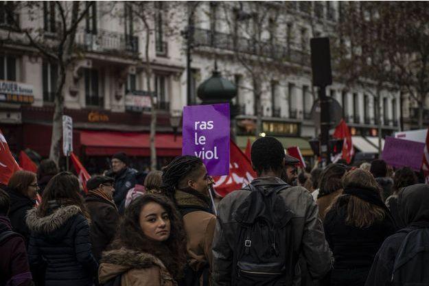 Lors de la marche féministe Nous Toutes du 24 novembre, à Paris.