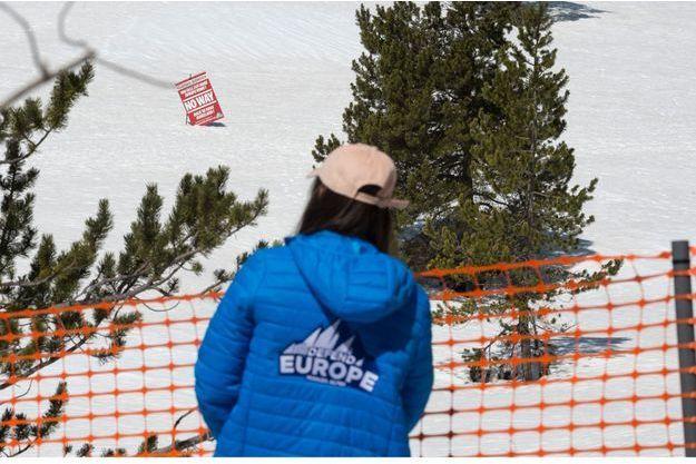 Des militants Génération identitaire au Col de l'Echelle fin avril.