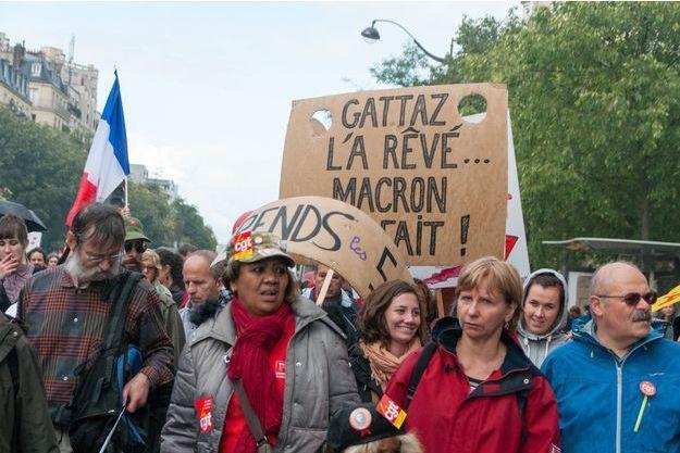 Ici, la mobilisation du 12 septembre contre la réforme du Travail.