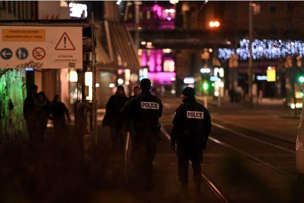 Photo prise à Strasbourg le 12 décembre 2018.