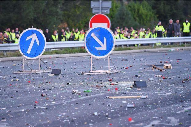D'importants dégâts ont été constatés à Virsac, sur l'A10.