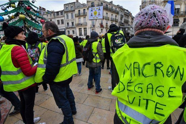 """Des """"gilets jaunes"""" ici à Montpellier en décembre."""
