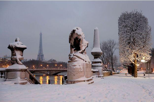 Paris sous la neige en février 2018.
