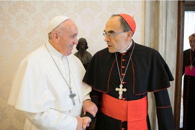 Le pape François et le cardinal Barbarin