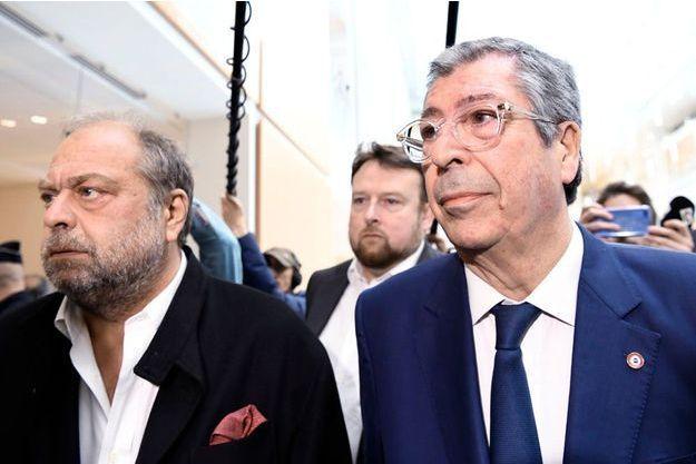Patrick Balkany arrive au tribunal de Paris accompagné de son avocat Me Dupont-Moretti.