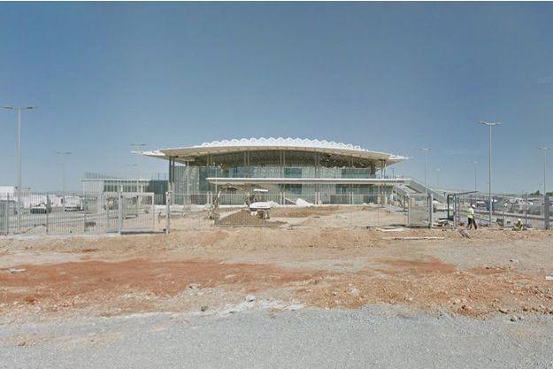 La gare alors en construction de Montpellier-sud.