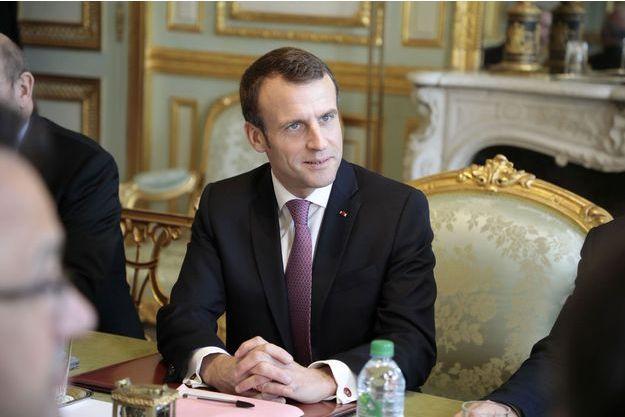 Emmanuel Macron à l'Elysée vendredi.