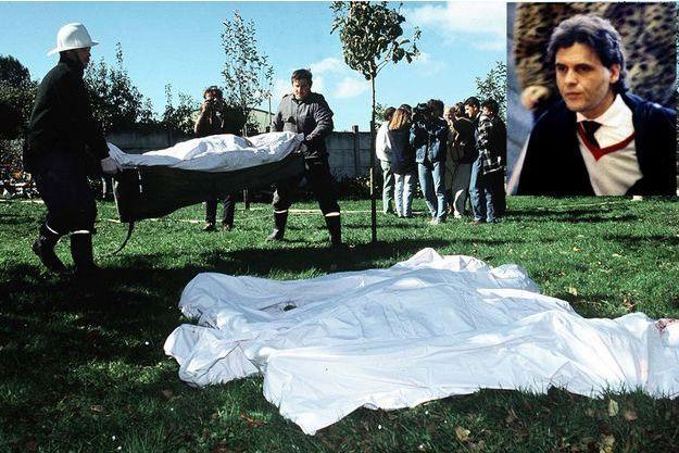 Le 5 octobre, à Cheiry, près de Fribourg, on retrouve vingt-trois cadavres, dix hommes, douze femmes, un enfant. En médaillon : Dr Luc Jouret, le recruteur. Fondateur, avec Jo Di Mambro, de l'Ordre du Temple solaire en 1984. Il se suicide dix ans plus tard en Suisse.