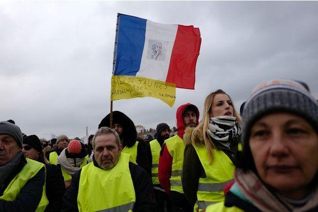 Manifestation des Gilets Jaunes le 5 janvier 2019 à Lyon.