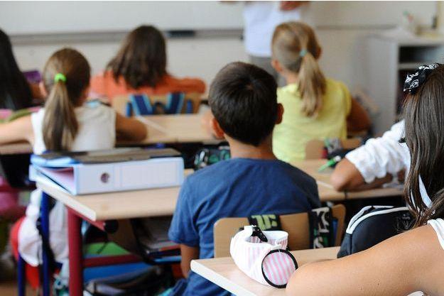 Une classe d'école primaire (image d'illustration).
