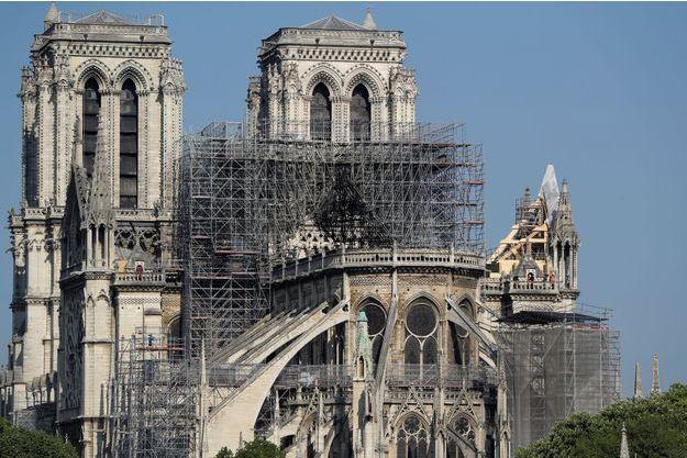 Notre-Dame de Paris après l'incendie du 15 avril 2019.