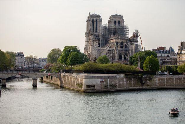 Notre-Dame-de-Paris, le 18 avril.