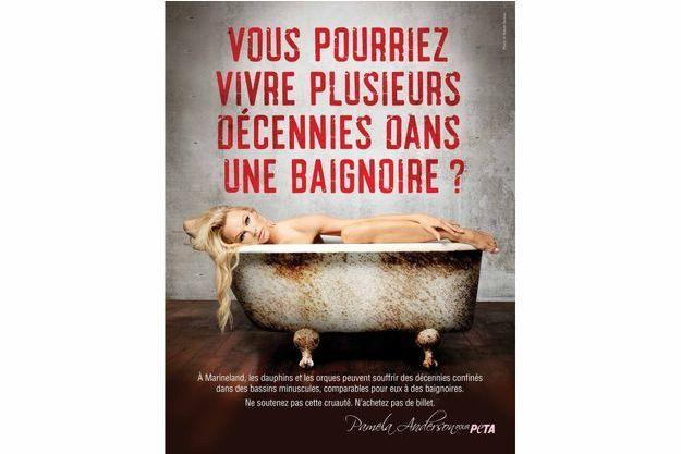 L'affiche de la prochaine campagne PETA.