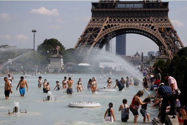 Paris, lors de la canicule de juin dernier.