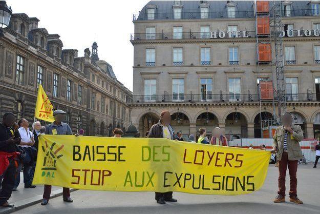 Une manifestation de l'association Droit au logement, à Paris, en mai dernier (image d'illustration).